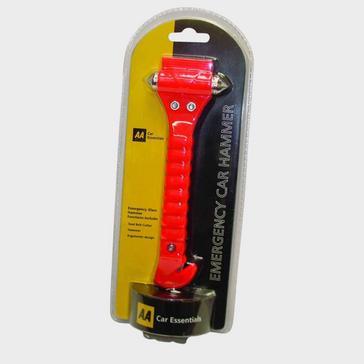 Red PENNINE AA Glass Hammer
