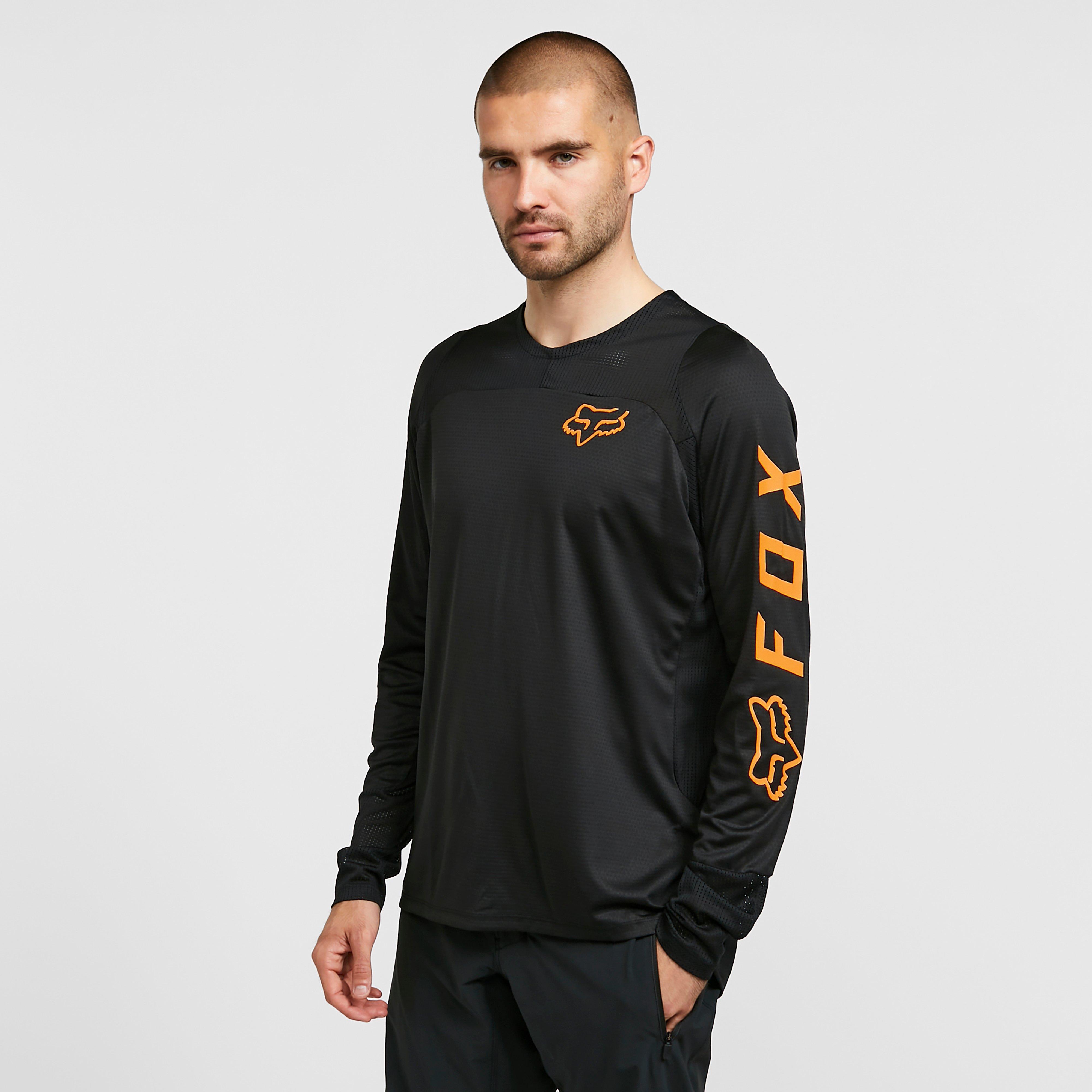 Image of Fox Men's Defend Long Sleeve Jersey - Black/Blk, Black/BLK