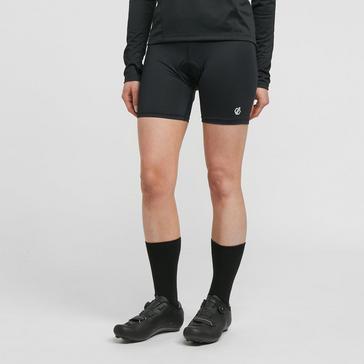 BLACK Dare 2B Women's Basic Padded Cycling Shorts