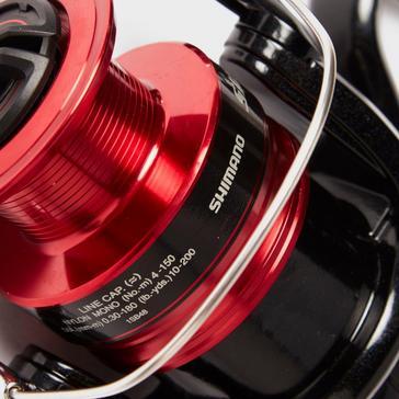red SHIMANO Sienna FG 4000 Spinning Reel