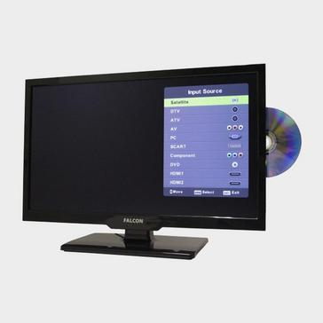 """Black Falcon TV Plus Pack – 16"""" LED, 12V & Mains with Freeview Antenna"""