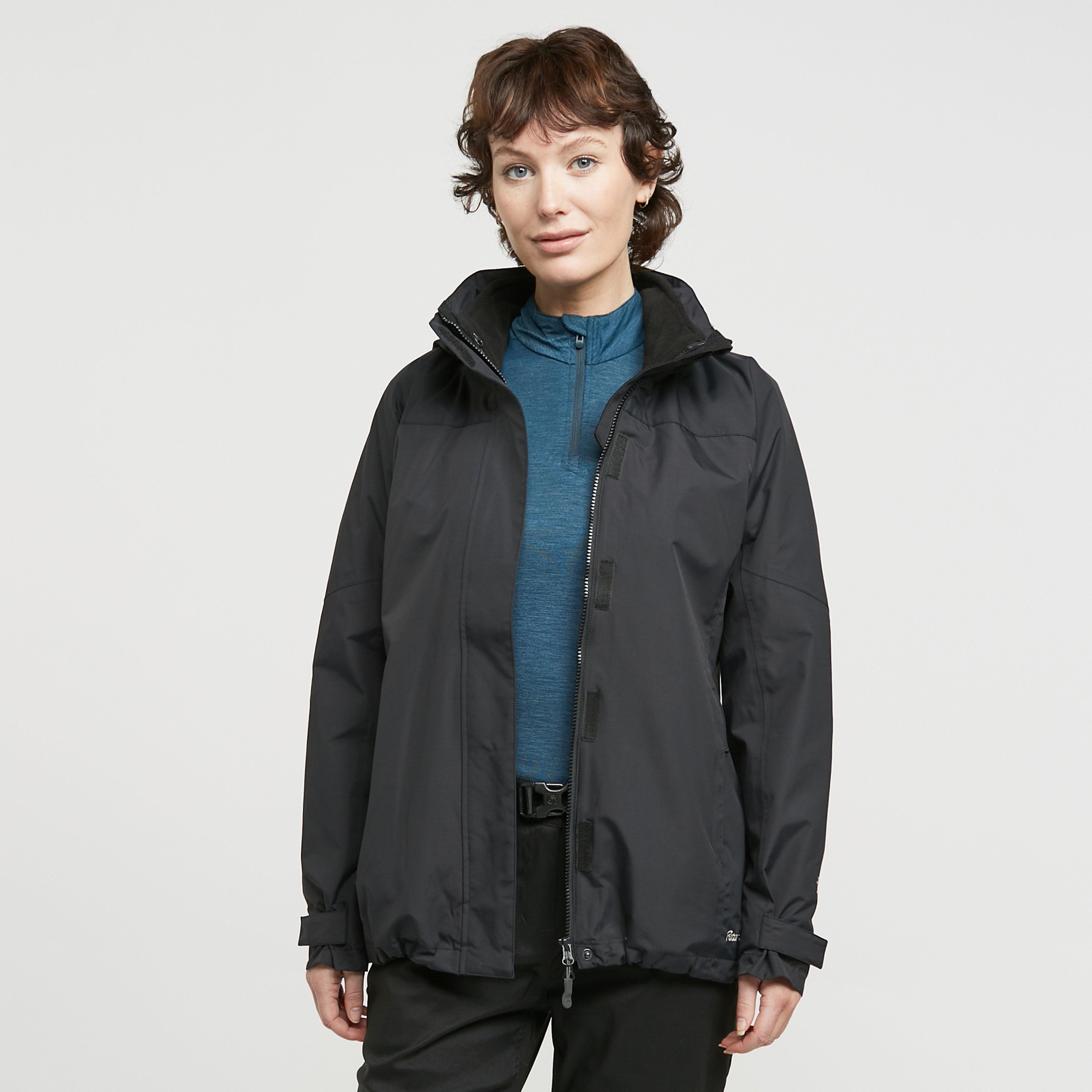 Peter Storm Women's Lakeside 3 In 1 Jacket - Black, Black