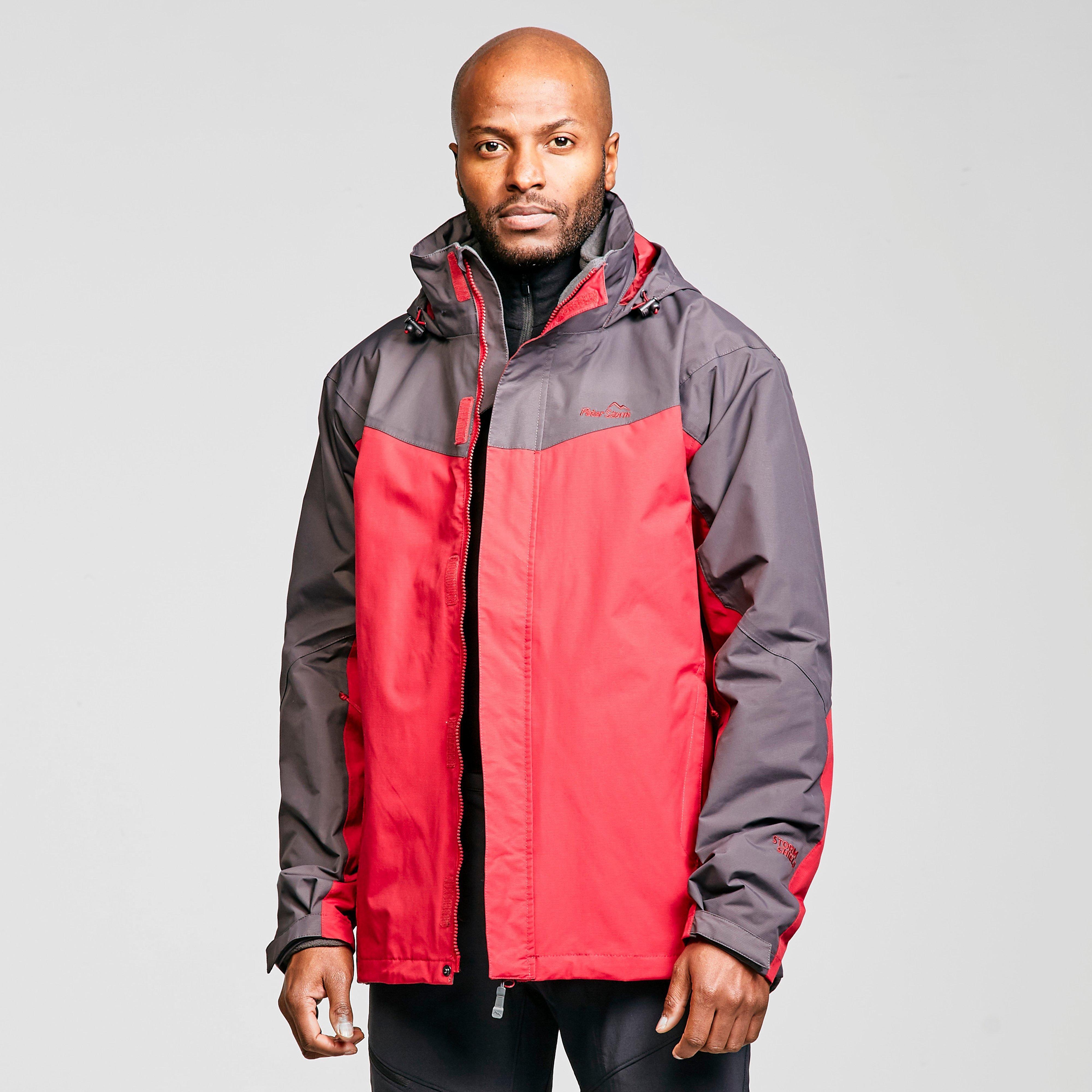 Peter Storm Men's Lakeside Iii 3-In-1 Jacket - Red/Grey, Red/Grey