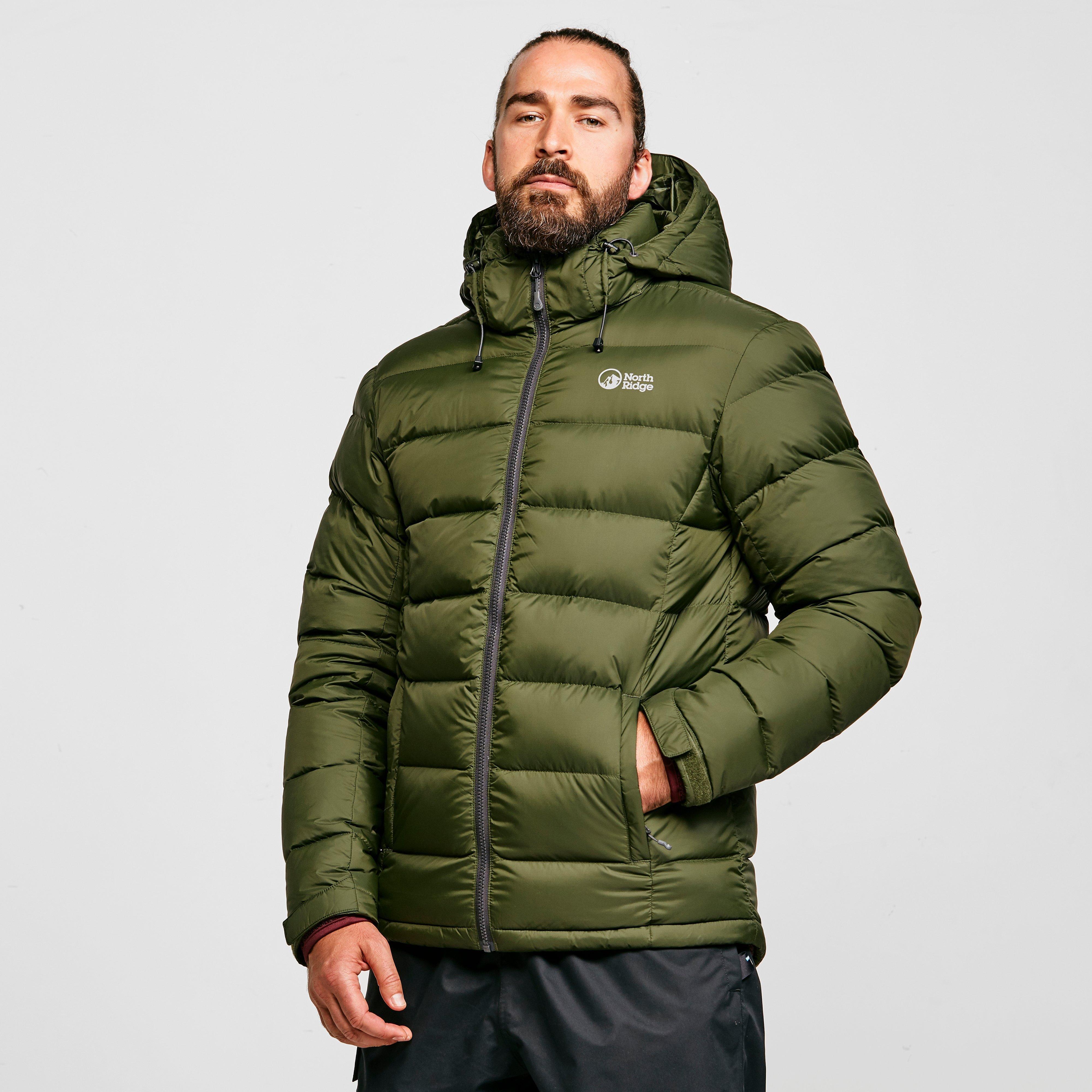 North Ridge Men's Tech Down Jacket - Green/Blu, Green