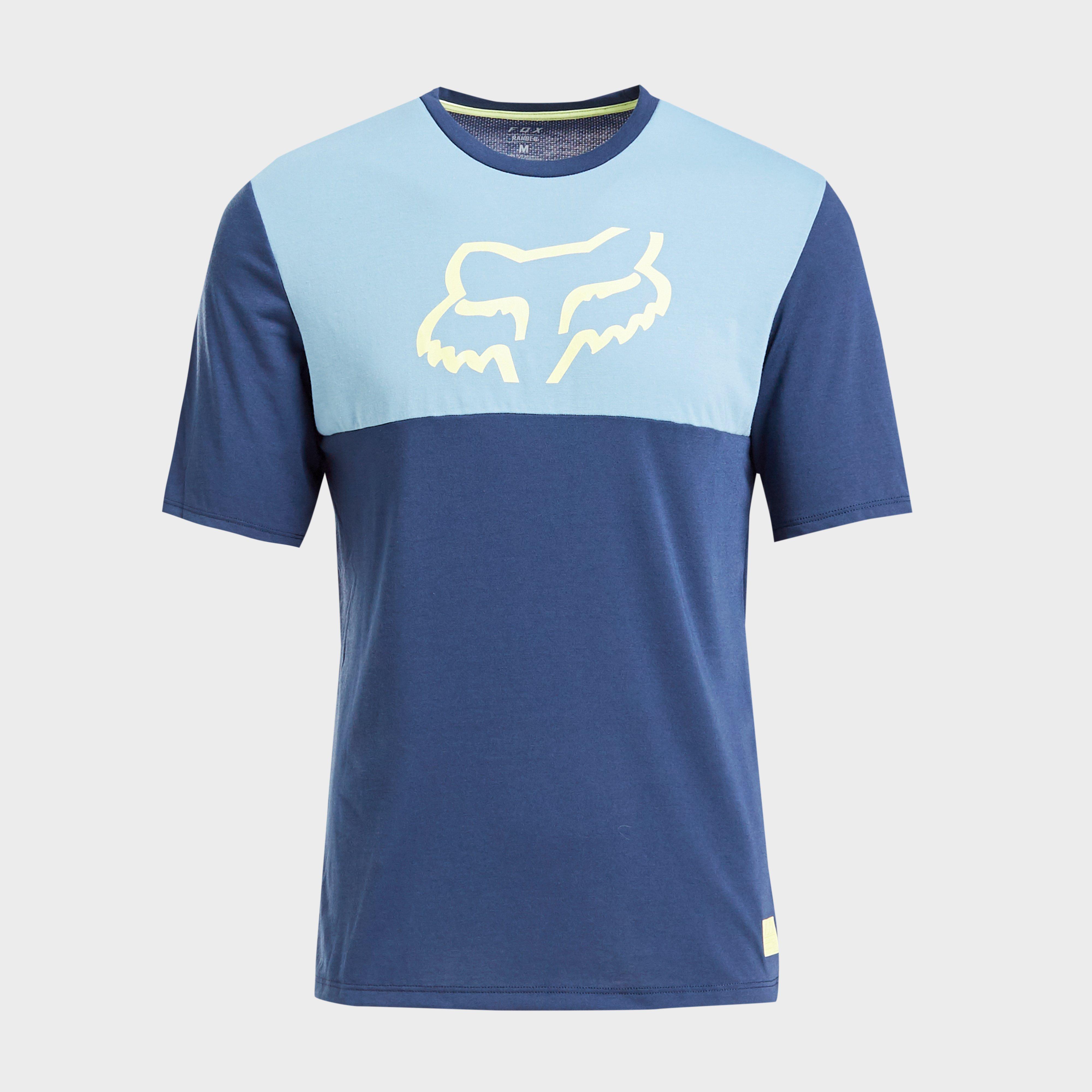 FOX Fox Mens Ranger drirelease Short Sleeve Jersey, Blue