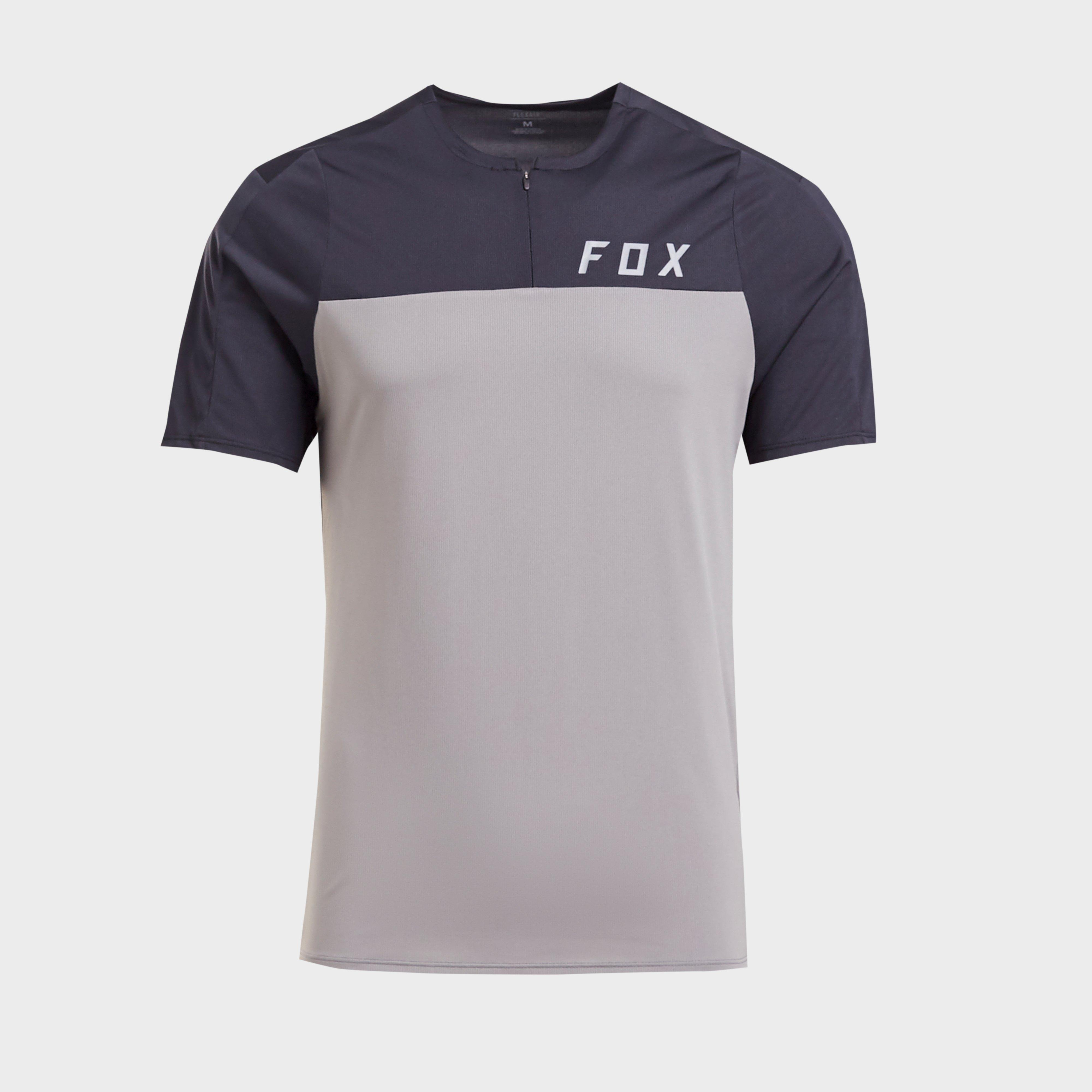 FOX Fox Mens Flexair Short Sleeve Jersey - Grey, Grey