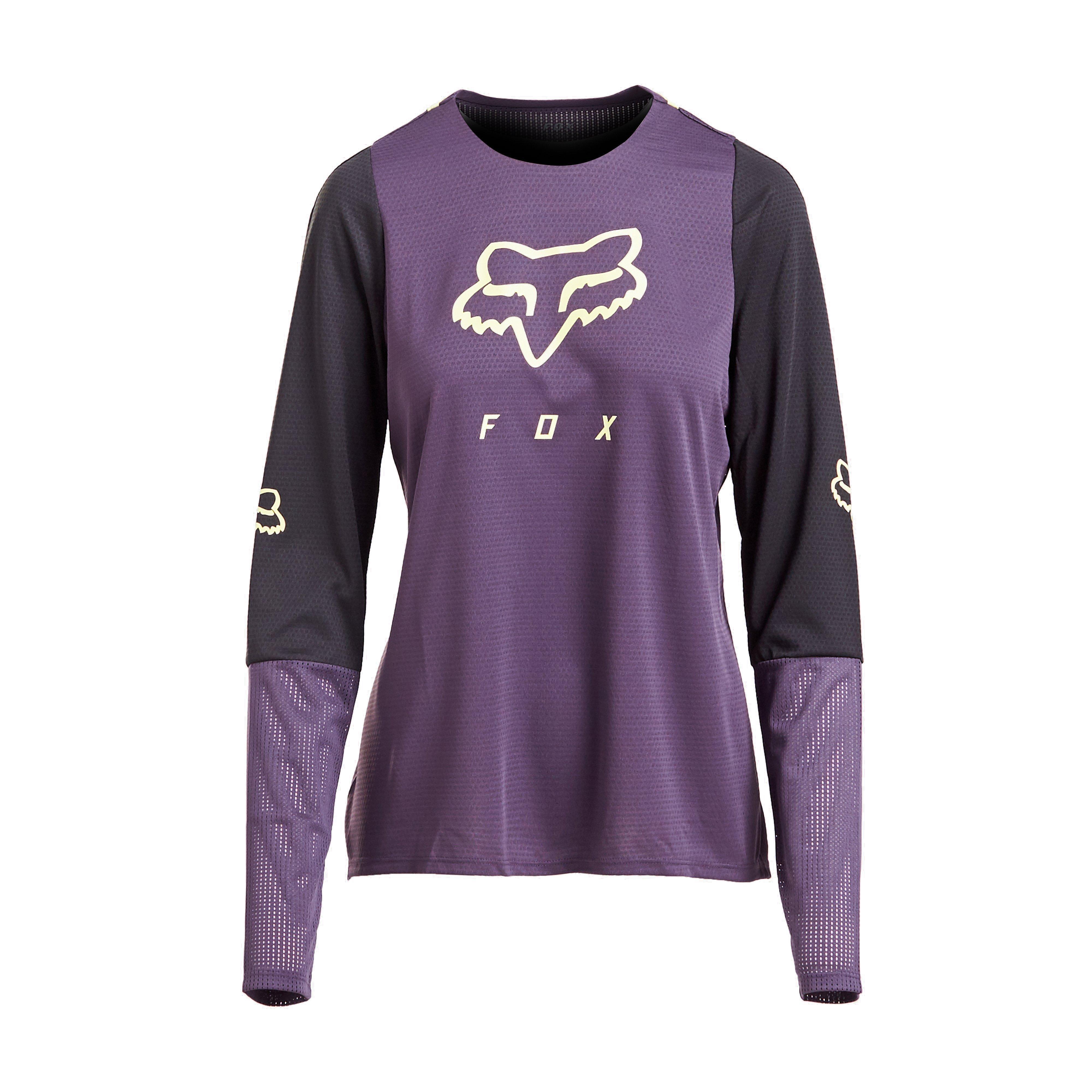 FOX Fox Womens Defend Long Sleeve Jersey, Purple