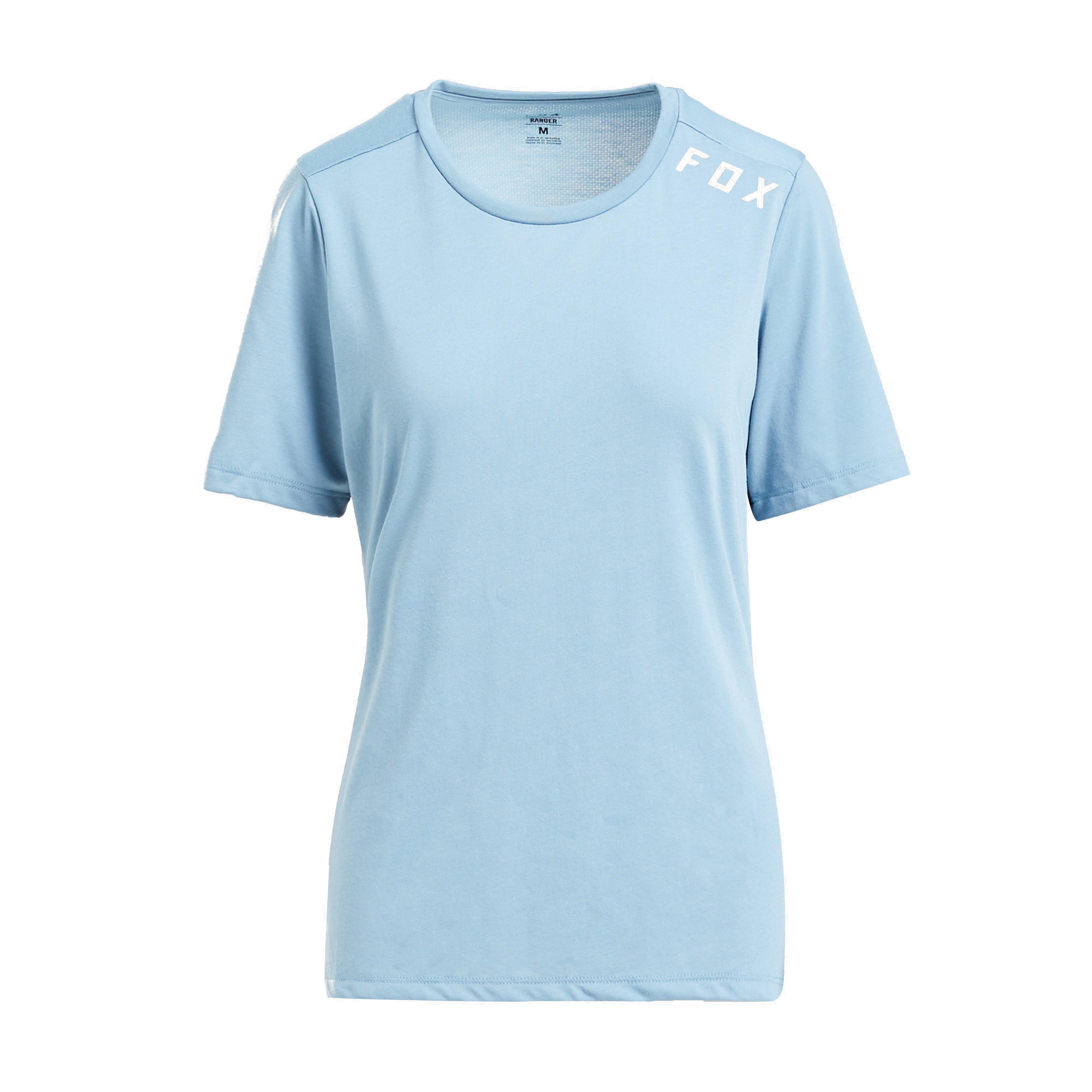 FOX Fox Womens Ranger drirelease Short Sleeve Jersey, Blue