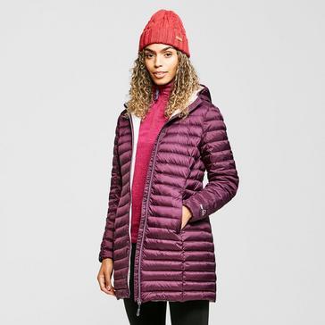 Purple Peter Storm Women's Long Insulated Jacket
