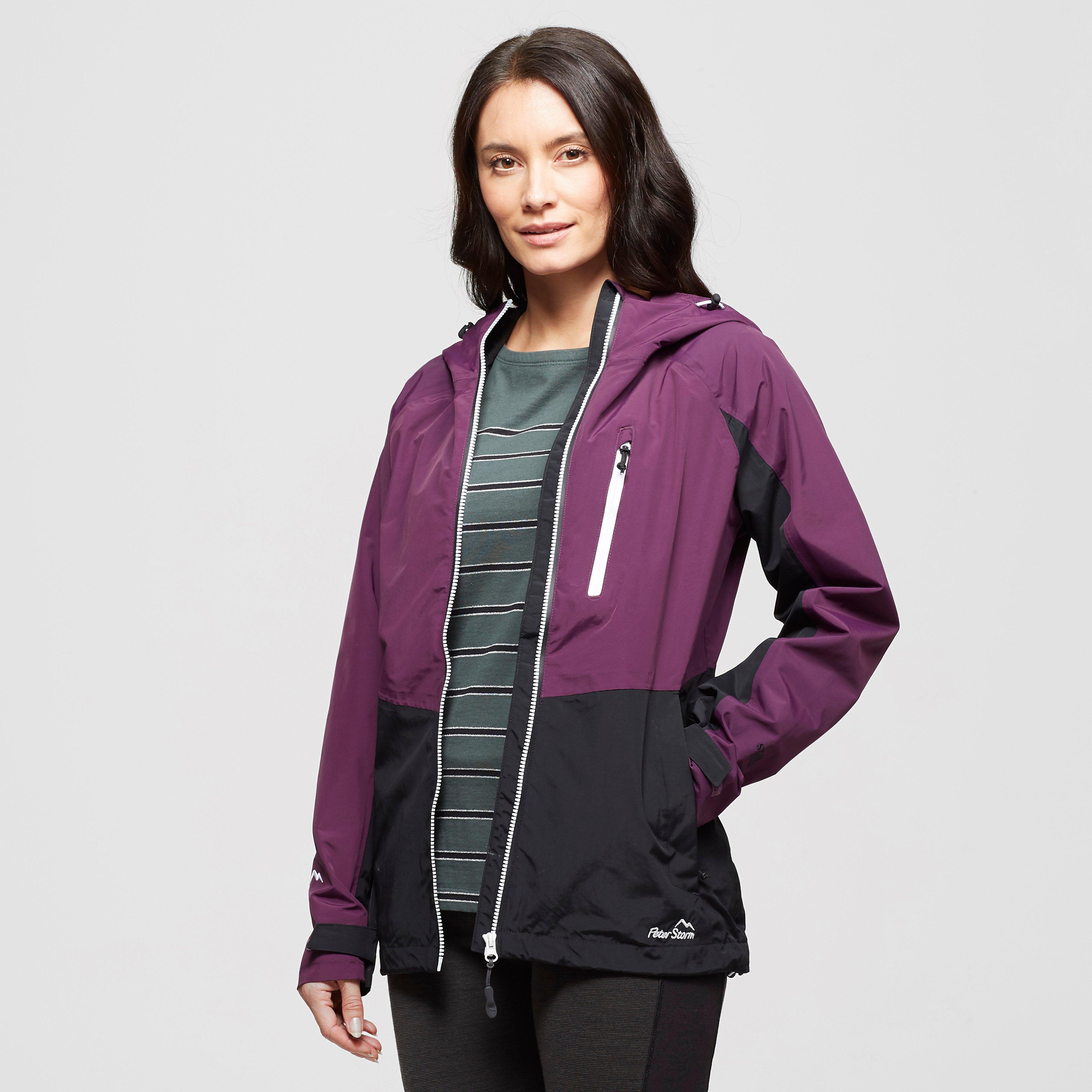 Peter Storm Women's Colourblock Waterproof Jacket - Purple/Pur, Purple