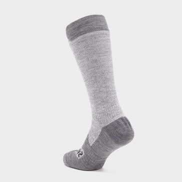Grey|Grey Sealskinz Waterproof All Weather Mid Length Socks