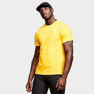 yellow The North Face Men's Redbox T-Shirt
