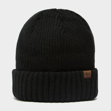 Black Sealskinz Waterproof Cold Weather Roll Cuff Beanie Hat
