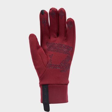 Red Sealskinz Women's Water Repellent All Weather Glove