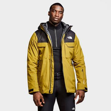 Khaki The North Face Men's Fourbarrel Zip-In Triclimate Jacket