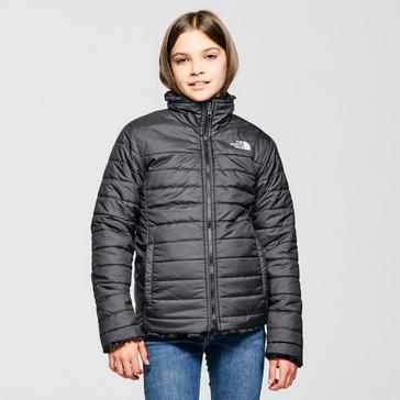 Black The North Face Kids' Reversible Mossbud Swirl Jacket