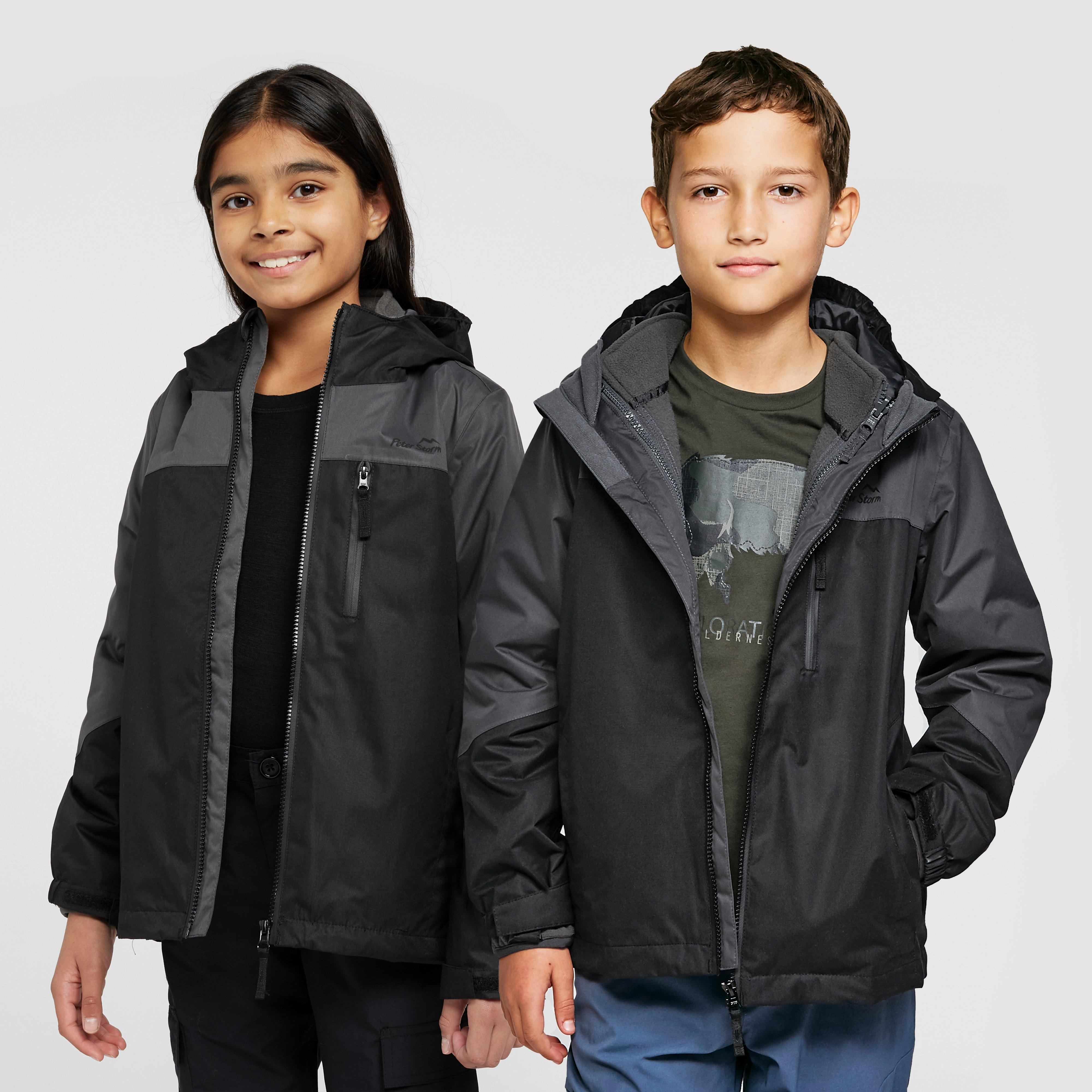 Peter Storm Kids' Lakes 3-In-1 Jacket - Black/Blk, Black