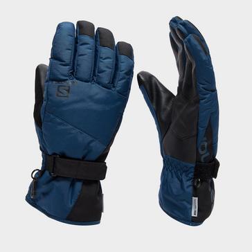 Navy Salomon Men's Force Dry Ski Glove