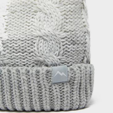 White Peter Storm Women's Windproof Gen Bobble Hat