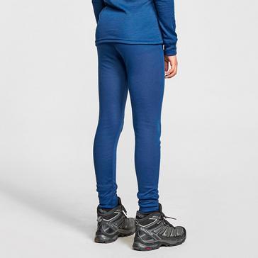 Blue Odlo Kids' Active Warm Long Sleeve Baselayer Bottoms