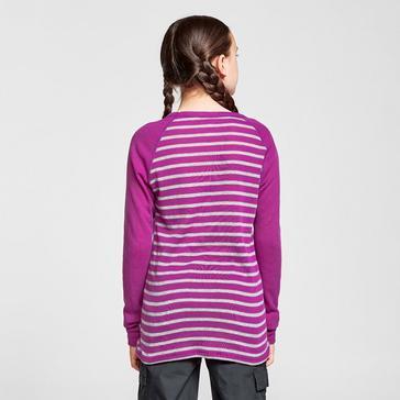 Pink Odlo Kids' Active Warm Long Sleeve Baselayer Top