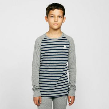 Grey Odlo Kids' Active Warm Long Sleeve Baselayer Top