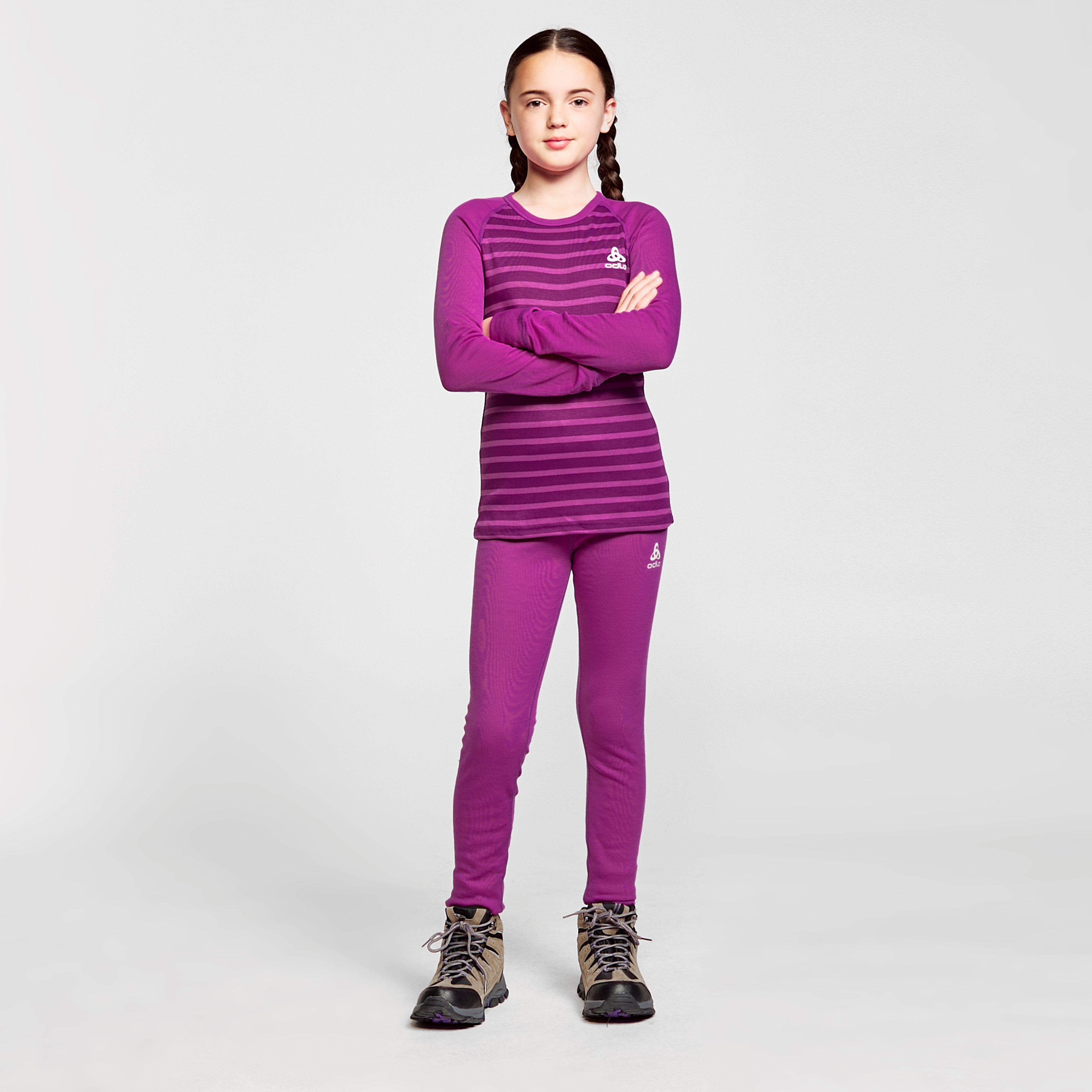 Odlo Kids' Active Warm Eco Baselayer Set - Pink/Pur, Pink