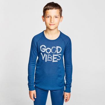 Blue Odlo Odlo Kids' Active Warm Long Sleeve Baselayer Top