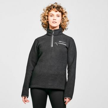 Black Berghaus Women's Darria Half Zip Fleece