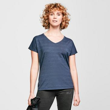 Navy Berghaus Women's Optic Short-Sleeve T-shirt