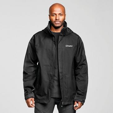 Black Berghaus Men's RG Alpha 2.0 Waterproof Jacket