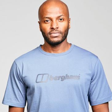 Blue Berghaus Men's Short Sleeve Big Logo T-Shirt