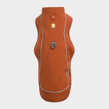 Orange Ruffwear Overcoat Fuse Dog Harness Coat