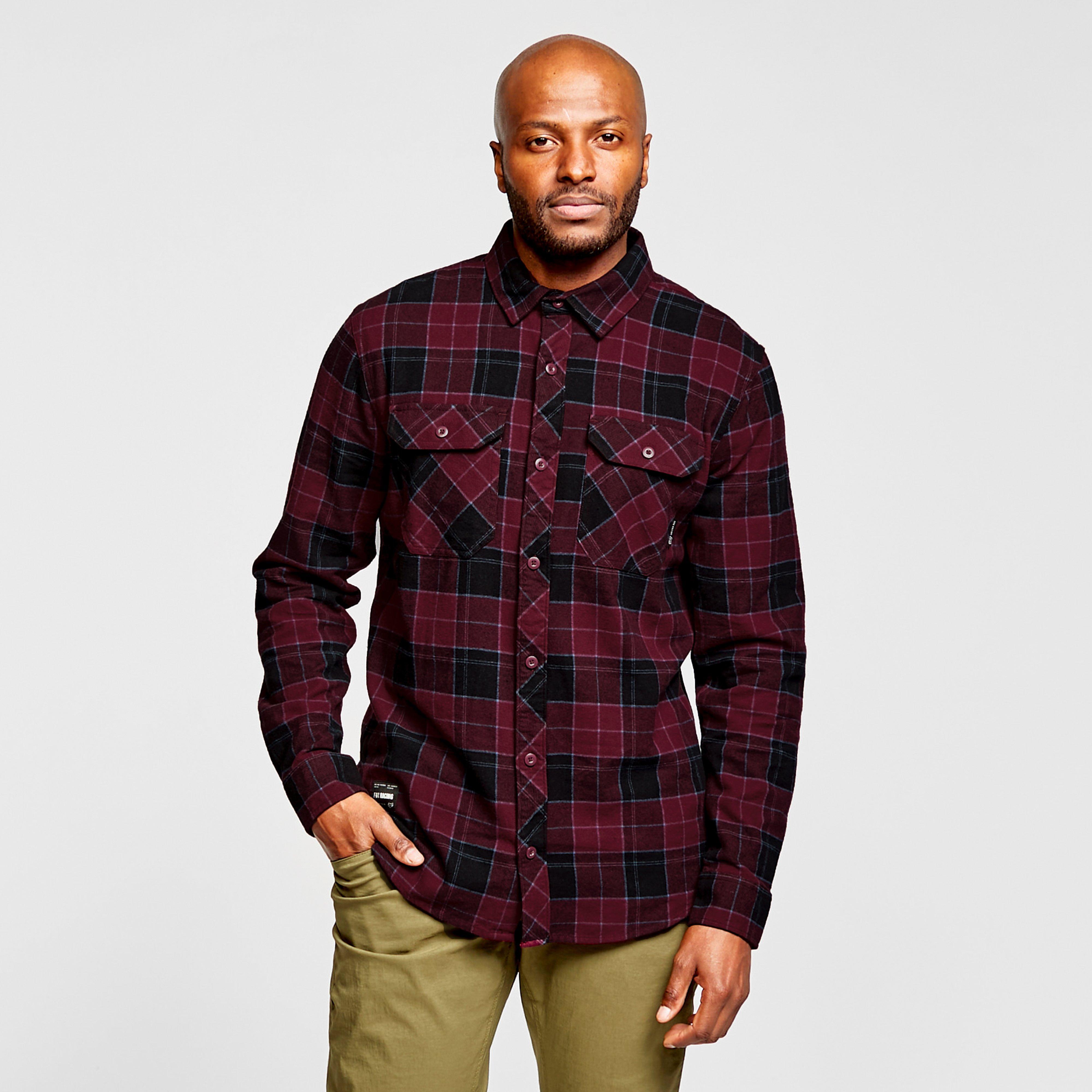 Fox Men's Traildust 2.0 Flannel Shirt - Cranberry/Drd, Burgundy