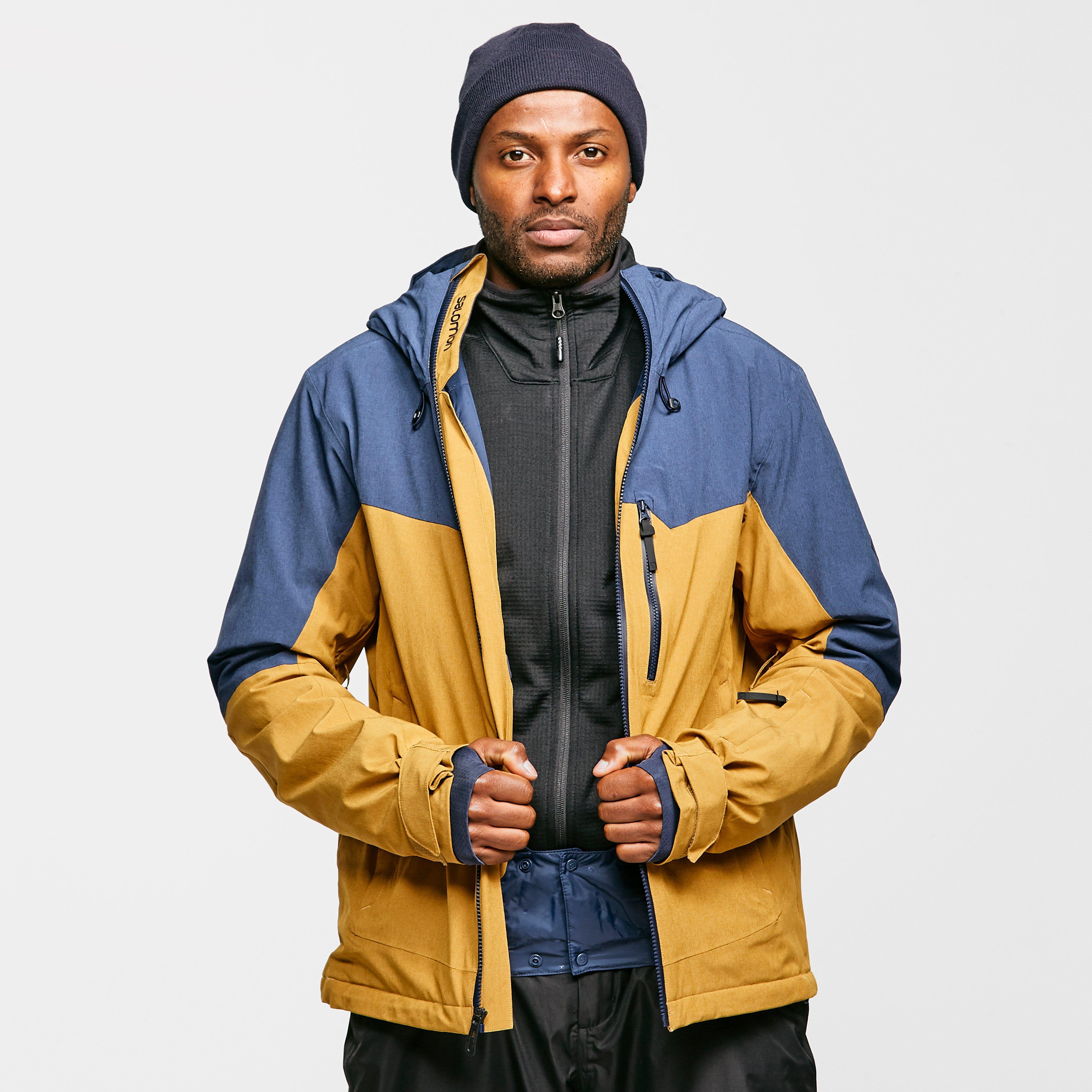 Salomon Men's Untracked Jacket - Yellow/Navy, Yellow/Navy