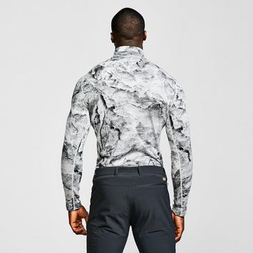 Grey Icebreaker Men's Merino 250 Vertex Long Sleeve Thermal Half Zip Top