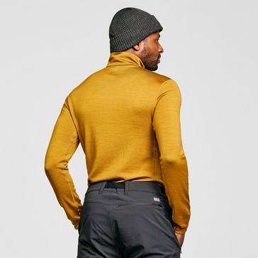 Yellow Icebreaker Men's Merino 260 Tech Long Sleeve Half Zip Thermal Baselayer
