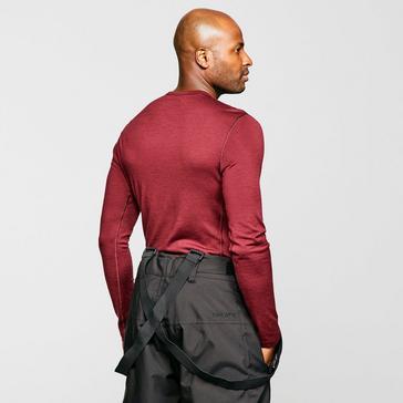 Red Icebreaker Men's Merino 200 Oasis Long Sleeve Half Zip Thermal Baselayer