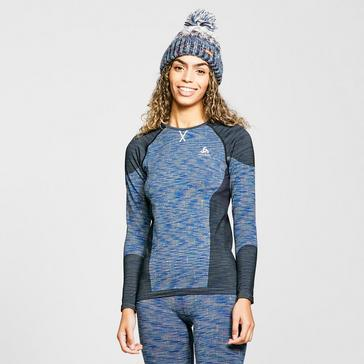 Blue Odlo Women's Blackcomb Long-Sleeve Baselayer Top