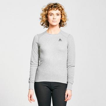 Grey Odlo Women's ACTIVE WARM ECO Long-Sleeve Baselayer Top