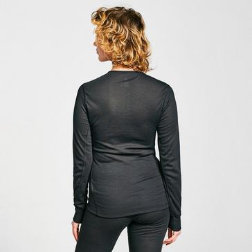 Black Odlo Women's ACTIVE WARM ECO Long-Sleeve Baselayer Top