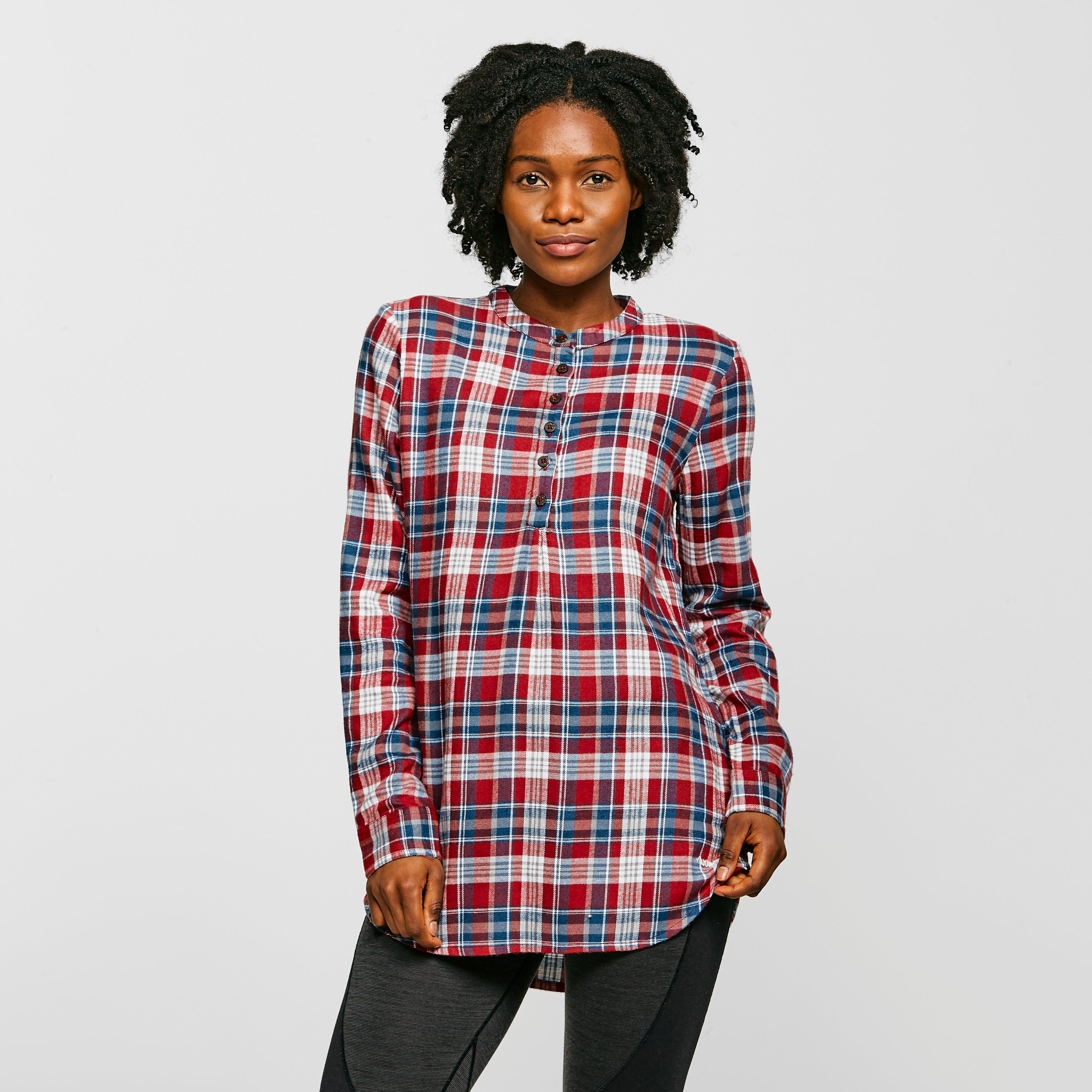Image of Weird Fish Womens Valerie Shirt - Red/Red, Red/RED