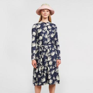 Navy Weird Fish Women's Kyra Print Dress