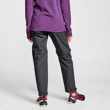 black FREEDOMTRAIL Women's Nebraska Zip-Off Walking Trousers