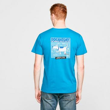 Blue Weird Fish Men's Dogatomy T-Shirt