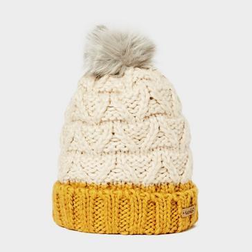 white Weird Fish Livvy Bobble Hat
