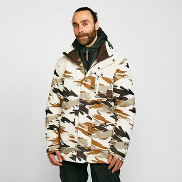 white Protest Men's Rambo Camo Ski Jacket