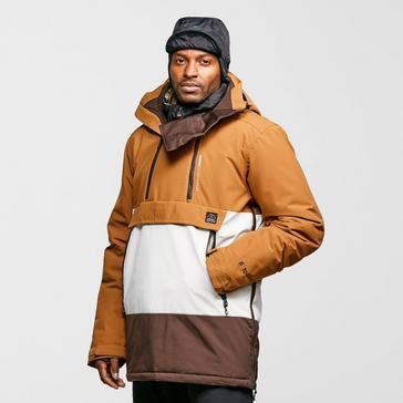 Brown Protest Men's Backflip Anorak Ski Jacket