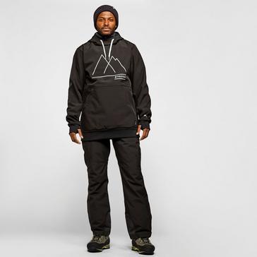 Black Protest Men's Melton Softshell Anorak Ski Jacket