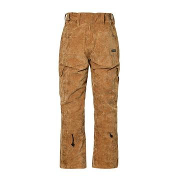 Brown Protest Men's Edge Corduroy Ski Trousers